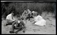 [Elliston Perot Morris Jr. and Marriott Canby Morris Jr. playing in sand, Sea Girt] [graphic].