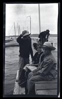 [Marriott Canby Morris Jr., Helen Dickey Potts, and Elliston Perot Morris Jr. on a dock], Sea Girt, NJ [graphic].