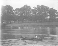 [Man canoeing, Fairmount Park] [graphic].