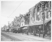 [Main Street, 4300 block with patriotic bunting, Manayunk] [graphic].