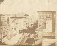[Chestnut Street, rooftop view east from Odiorne's studio at 920 Chestnut Street] [graphic].