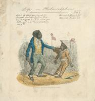 "Life in Philadelphia. ""What de debil you hurrah for General Jackson for?"" [graphic] / [Clay], fec."