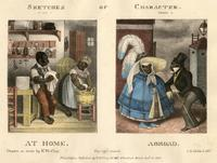 Sketches of character. Plate 2. At home. Plate 3. Abroad. [graphic] / Drawn on stone by E. W. Clay; C. G. Childs lithy.