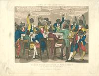 Life in Philadelphia. Grand celebration ob de bobalition ob African slabery. [graphic] / Drawn and Engd. by I. Harris.