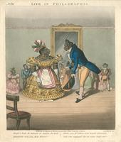 "Life in Philadelphia. ""Shall I hab de honour to dance de next quadrille...?"" [graphic] / Chas. Hunt, Sc."