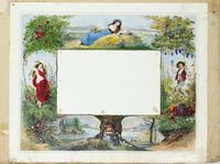 [Print with ornate border containing vignettes representing the seasons] [graphic].