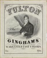 [Textile labels advertising Ginghams, and Balmoral skirts] [graphic].