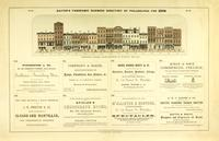 Baxter's panoramic business directory of Philadelphia. Chestnut Street from Seventh to Eighth, (south side). [graphic].