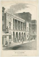[Chestnut Street Theatre]. North East corner of Sixth and Chestnut Streets, Philadelphia. [graphic] / Drawn and engraved on wood, by D.C. Baxter, (successor to Wm. B. Gihon,)