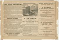 [Advertisements from Rae's Philadelphia pictorial directory & panoramic advertiser. Chestnut Street, from Second to Tenth Streets] [graphic].