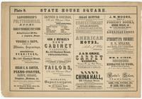 [Plate 8 and advertisements from Rae's Philadelphia pictorial directory & panoramic advertiser. Chestnut Street, from Second to Tenth Streets] [graphic].
