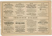 [Plate 5 and advertisements from Rae's Philadelphia pictorial directory & panoramic advertiser. Chestnut Street, from Second to Tenth Streets] [graphic].