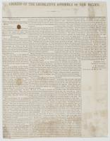 Address of the Legislative Assembly of New Mexico. : manifesto of the Council and House of Representatives to the inhabitants of the Territory of New Mexico.