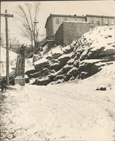 [Staircase rising above snow-covered boulders, Manayunk, Philadelphia] [graphic].