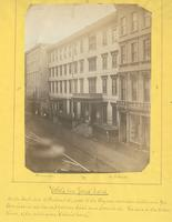 "Yohe's, late Jones' Hotel. On the south side of Chestnut St., next to the Clymer mansion (afterward Geo. Harrison's residence) between Sixth and Seventh St. The site, in the olden times, of the celebrated ""Oeller's hotel."" [graphic] / Photograph by Richar"
