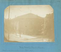 Holy Trinity (Romish) Church, northwest corner of Spruce and Sixth Street. [graphic] / Photograph by Richards.