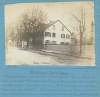 "Christopher Sower's house - [graphic] : And printing office. Mr. Watson, in his letter writes: ""The house of Sower the printer, and earliest Bible publisher in our country, and also of an early German newspaper - See facts in Annals. The house stands vis"