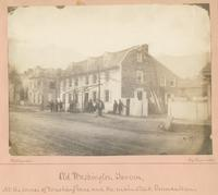 Old Washington Tavern, [graphic] : At the corner of Washington Lane and the Main Street Germantown / Photograph by Richards.
