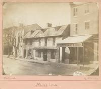 "Nutz's house. [graphic] : ""A very old stone house,"" writes Mr. Watson, ""of two storys, owned and dwelt in by Nutz, a tanner, who had his tanyard along the street, southward. It is now a house resting some two feet or more below the street pavement but in"