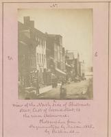 View of the north side of Chestnut Street, east of Second Street, to the river Delaware [graphic] / Photographed from a daguerreotype by Mason - 1845 [sic] - by Richards.