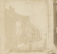 [View of the north side of Chestnut Street, east of Second Street, to the river Delaware] [graphic].