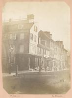 Old houses, from the southeast corner of Fourth and Union Street, to the northeast corner of Pine and Fourth Street. [graphic] / Photograph by Richards.