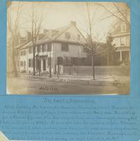 "The Bank of Germantown [graphic] : Of this building Mr. Watson, the Annalist, thus writes: ""It was the residence of Clarkson (City Mayor) now altered on the Bank end. It was the office of Thomas Jefferson, then Secretary of State, and Randolph, attorney G"