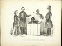 The resurrection of Henry Box Brown at Philadelphia [graphic] : Who escaped from Richmond Va. in a box 3 feet long 2 1/2 ft. deep and 2ft. wide. / Kramer, del.