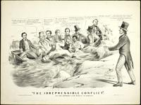 """The irrepressible conflict"" or the Republican barge in danger. [graphic]"
