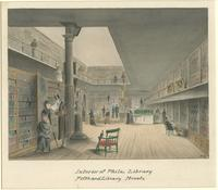 Interior of Phila; Library, Fifth and Library Streets, 1878. [graphic] / B. R. Evans.