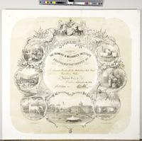Diploma awarded by the Farmers & Mechanics Institute of Northampton County Pa. [blank] annual fair at Easton, [blank]. [Blank], Secy. [Blank] Prest. [graphic] / James Queen del.
