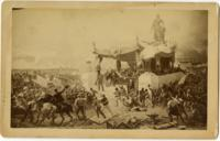 [Photographic reproduction of an allegorical view including Abraham Lincoln, a pavilion, and marching soldiers] [graphic] / P. Philipoteaux; Allen & Rowell, photographers, 25 Winter Street, Boston.