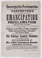 Emancipation Proclamation : Carpenter's great national picture, the Emancipation Proclamation before the Cabinet! Painted on a canvas measuring 14 1/2 by 9 feet, and containing full length and life-size portraits of President Lincoln, Secretaries Seward,