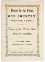 Prayer for the Union, : our country.