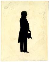 Full-length silhouette of possibly Samuel B. Morris