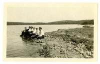 Group at edge of Ponkapoag Pond