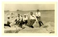 Group at Scituate on rocks