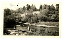 Children playing in a river, Pocono Lake, PA