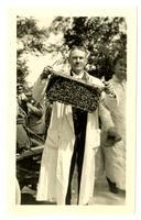 E.C. Britton with bees