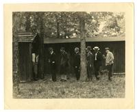 Waiting in line for the outhouse