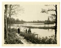 Group on riverbank, Browns Mills, NJ with Photographic Society