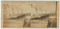 Stereoscopic view of Market Street, Philadelphia, including a view of the Market House from 8th to Front St.