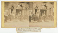 [Cohocksink Hose Company steam engine and fire fighters in front of the company fire station on Germantown Avenue above Fifth Street, Philadelphia]