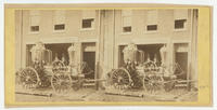 [Goodwill Hose Company steam engine in front of the company fire station at Wood Street near Twenty-Third Street, Philadelphia]