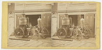 [Washington Fire Engine Company steam engine in front of the company fire station at Lombard Street below Eleventh Street, Philadelphia]