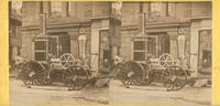 [Philadelphia Hose Company steam engine in front of the company fire station at Seventh above Market Street, Philadelphia]