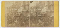 [Funeral procession for President Lincoln, Sixth and Chestnut streets, Philadelphia, Pa.]