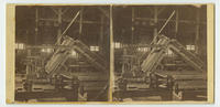 [Interior view of factory showing industrial machinery patented by Samuel Harrison]