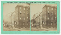 Chestnut Street, Philadelphia, from Tenth to [Ninth], south side.