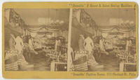 """Domestic"" and Grover & Baker sewing machines, and ""Domestic"" Fashion Rooms, 1111 Chestnut St., Phila."